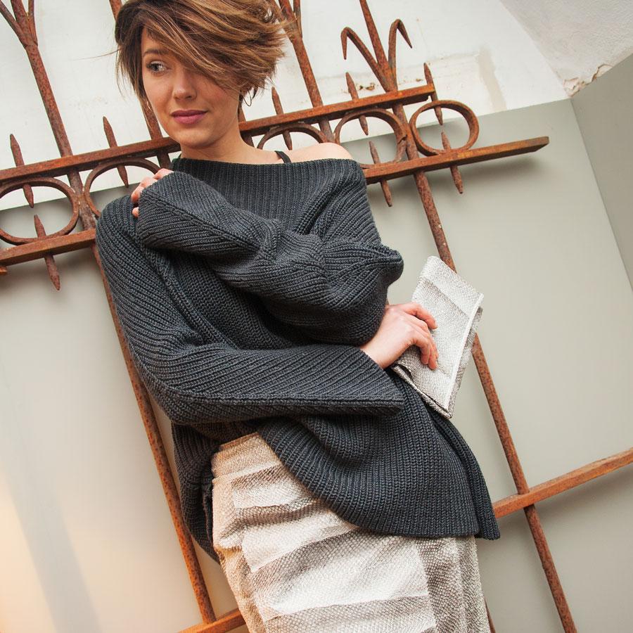 Handmade salmon leather Skirt