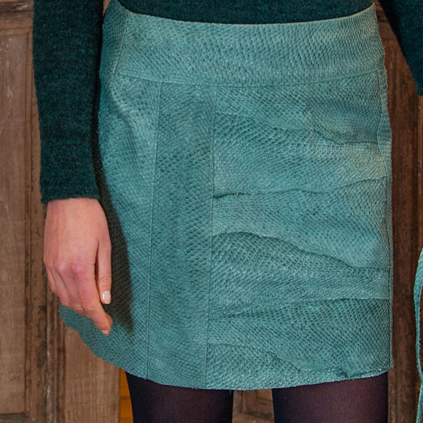 Skirt Salmon leather