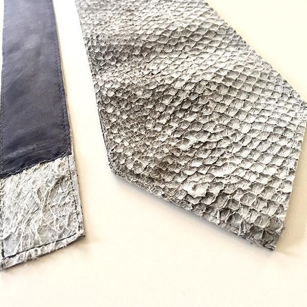 Zalmleren stropdas