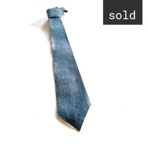 Salmon leather Tie