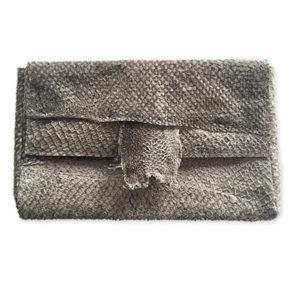 Salmon leather envelope bag