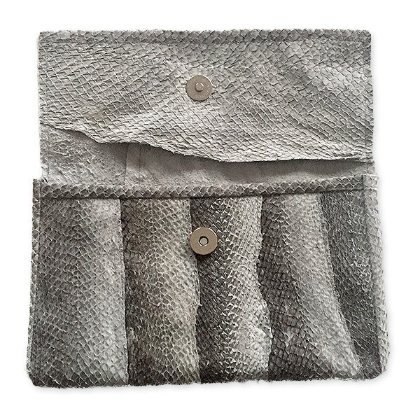 Salmon leather envelope bag