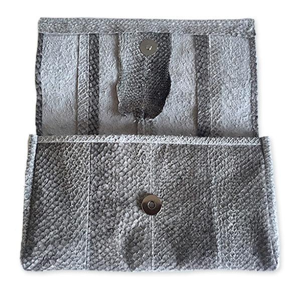 Envelop tas van zalmleer
