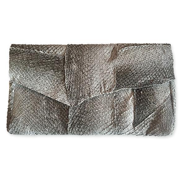 Enveloppe tas van zalmleer